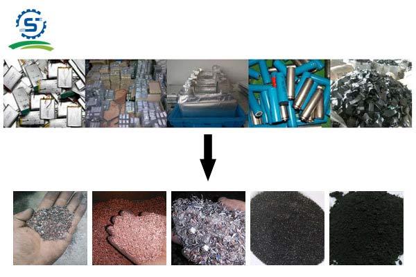 废旧锂电池物料