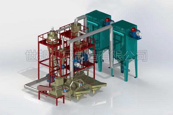 废锂电池负极片回收设备生产线