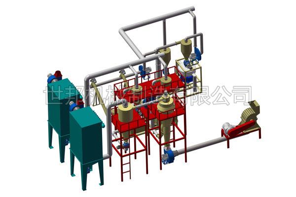 废锂子电池负极材料分离回收设备生产线