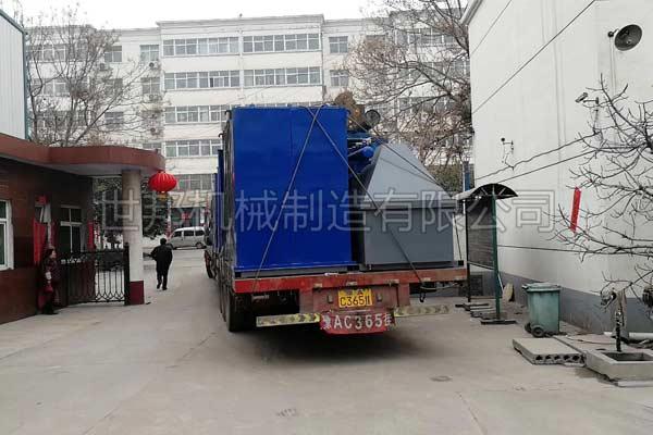江西800kg/h锂电池处理设备发货现场